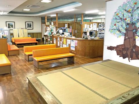 沖縄県名護市の北部皮フ科クリニック 受付・待合室
